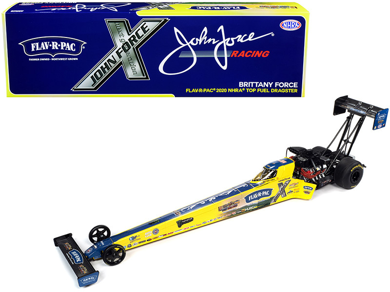 """2020 NHRA Funny Car TFD (Top Fuel Dragster) Brittany Force """"Flav-R-Pac"""" John Force Racing 1/24"""