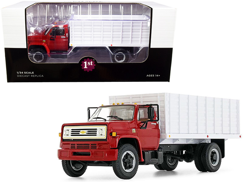 Chevrolet C65 Grain Truck Red and White 1/34