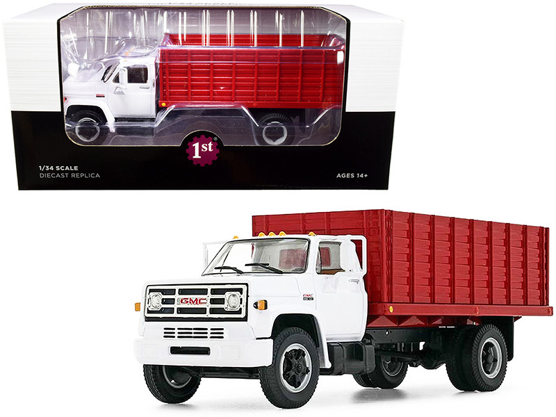 GMC 6500 Grain Truck White and Red 1/34