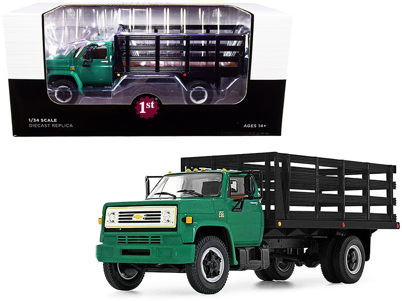 Chevrolet C65 Stake Truck Green and Black 1/34