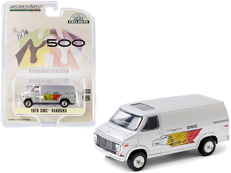 """1976 GMC Vandura Silver """"GMC Transportation"""" 60th Annual Indianapolis 500 Mile Race """"Hobby Exclusive"""" 1/64"""
