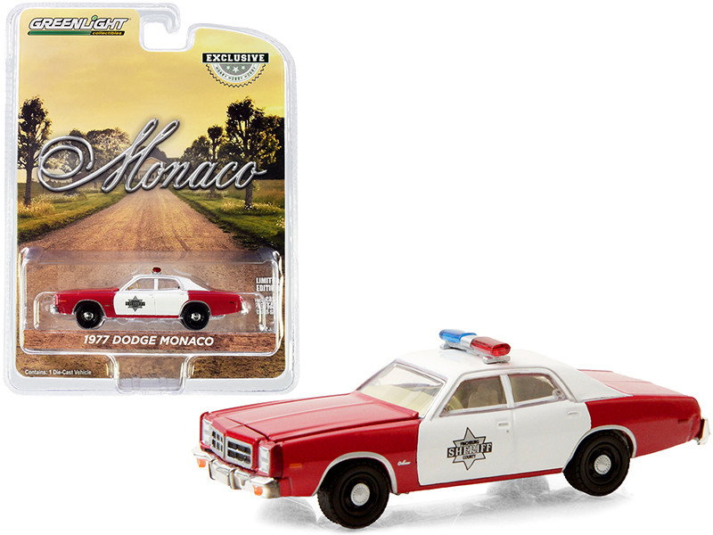 """1977 Dodge Monaco Red and White """"Finchburg County Sheriff"""" """"Hobby Exclusive"""" 1/64"""