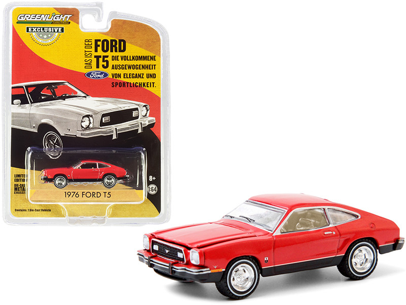 """1976 Ford T5 Vermilion Red with Black Bottom """"Hobby Exclusive"""" 1/64"""