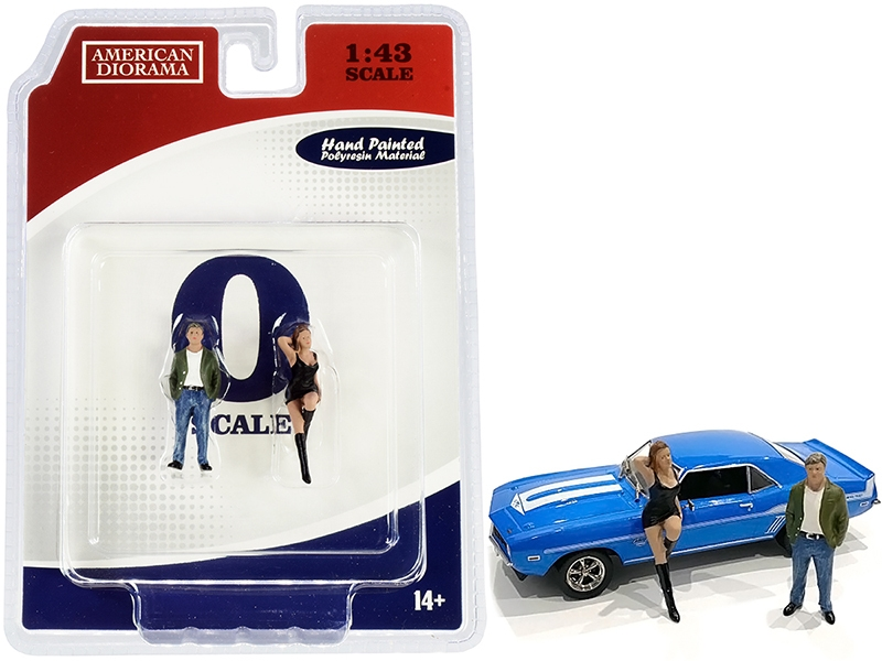 70s Style Two Figurines Set I for 1/43