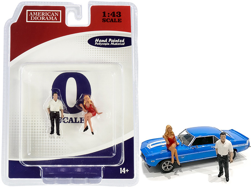 70s Style Two Figurines Set II for 1/43