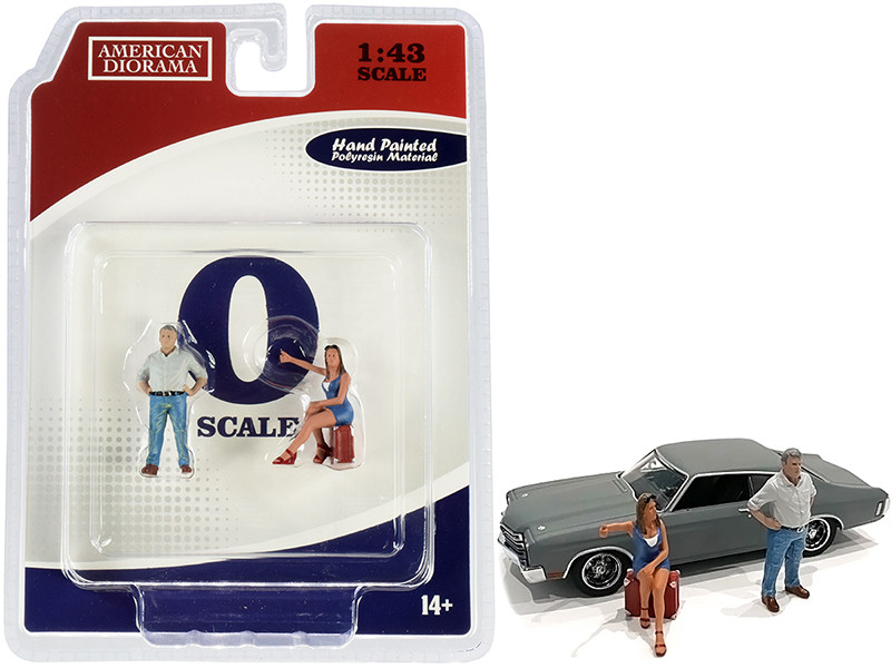 70s Style Two Figurines Set III for 1/43