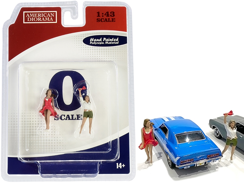 70s Style Two Figurines Set IV for 1/43