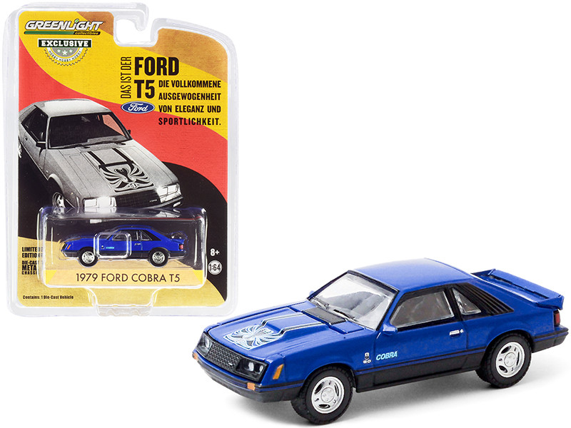 """1979 Ford Cobra T5 Blue Glow """"Hobby Exclusive"""" 1/64"""