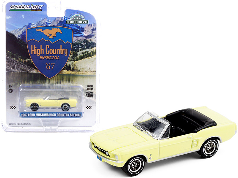 """1967 Ford Mustang Convertible Aspen Gold """"High Country Special"""" """"Hobby Exclusive"""" 1/64"""