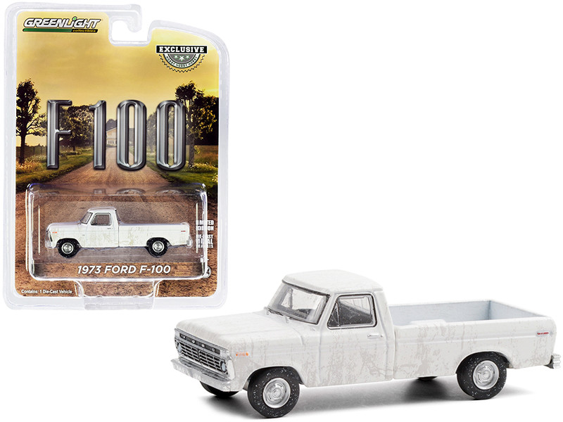 """1973 Ford F-100 Pickup Truck White (Dirty Version) """"Hobby Exclusive"""" 1/64"""
