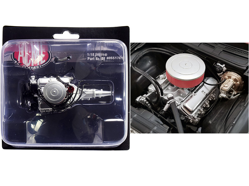 """454 Chevy Big Block Engine with 5 Speed Transmission Replica from """"1970 Chevrolet Chevelle 454 SS Street Fighter """"G-Force"""" 1/18"""