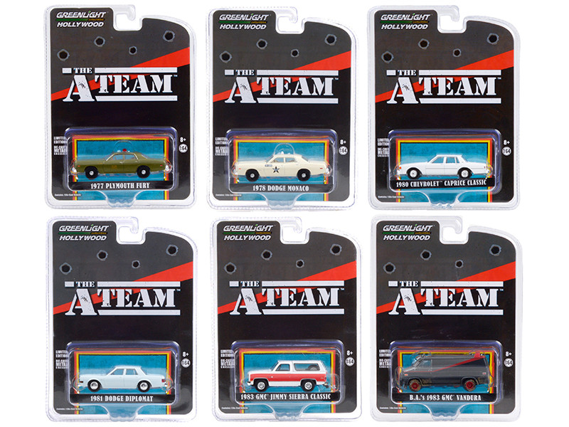"""The A-Team (1983-1987) TV Series Set of 6 pieces """"Hollywood Special Edition"""" 1/64"""