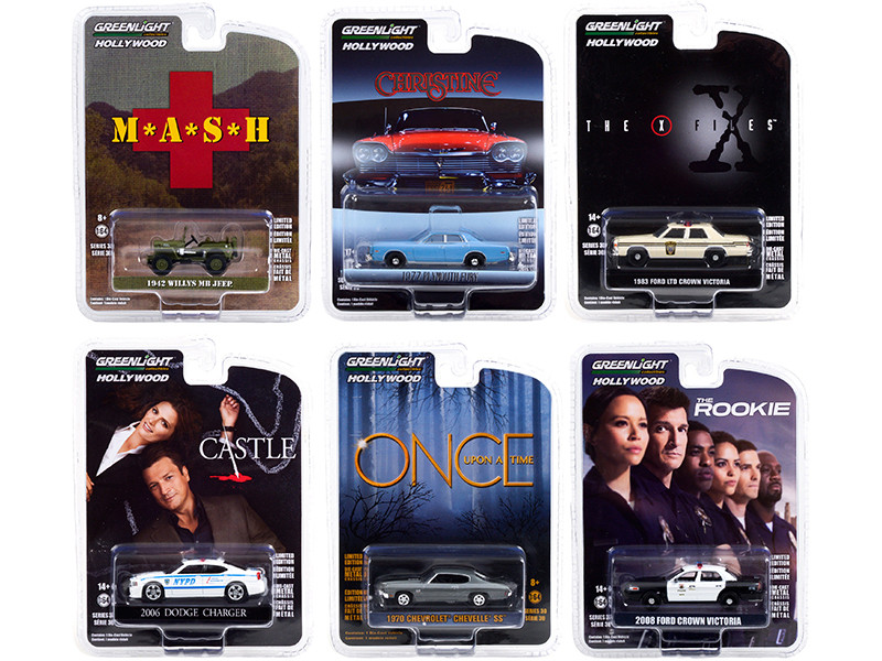 Hollywood Series Set of 6 pieces Release 30 1/64