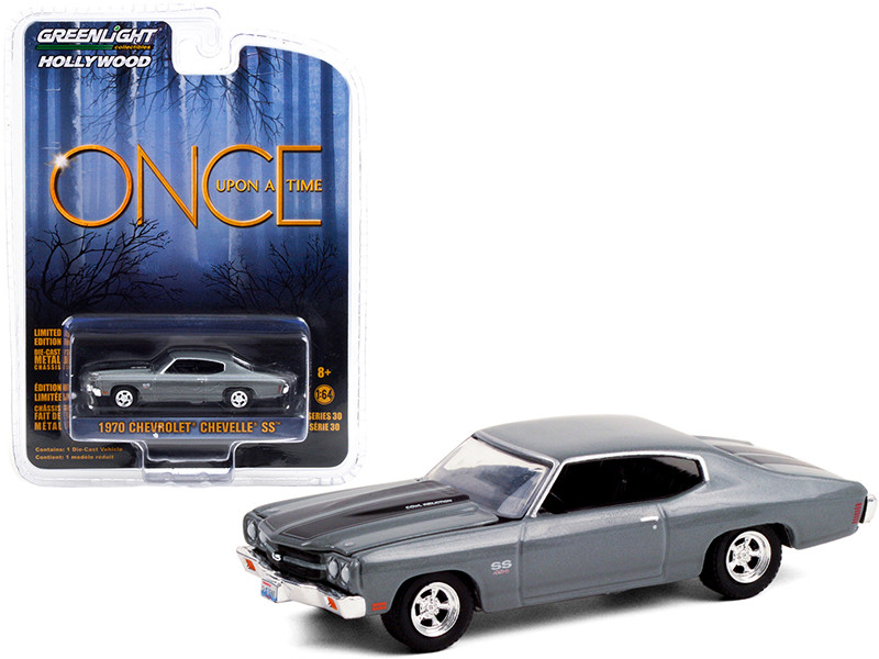"""1970 Chevrolet Chevelle SS 454 Dark Gray with Black Stripes """"Once Upon A Time"""" (2011-2018) TV Series """"Hollywood Series"""" Release 30 1/64"""