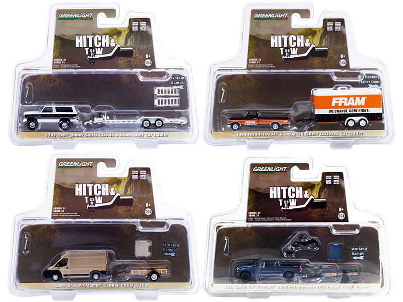Hitch & Tow Set of 4 pieces Series 21 1/64