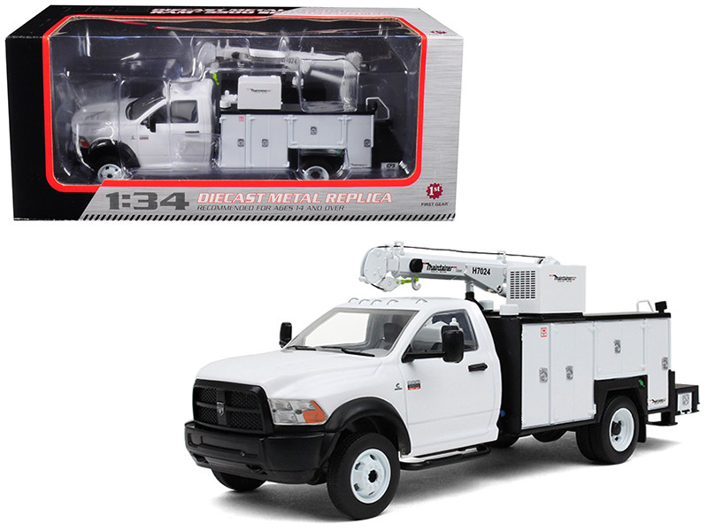 RAM 5500 with Maintainer Service Body White 1/34