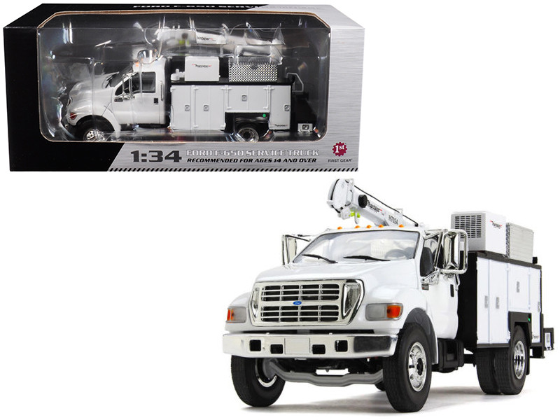 Ford F-650 with Maintainer Service Body White 1/34