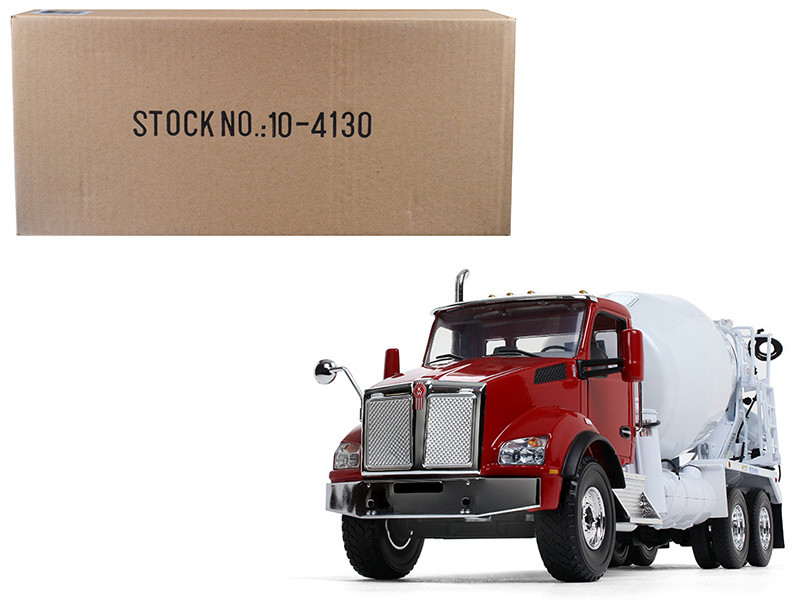 Kenworth T880 with McNeilus Standard Mixer Red Cab/ White Body 1/34