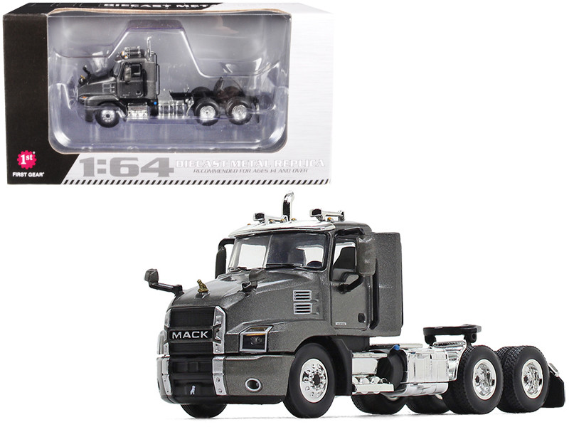 Mack Anthem Day Cab Tractor Truck Graphite Gray 1/64