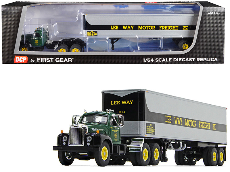 """Mack B-61 Day Cab with 40\' Vintage Trailer """"Lee Way Motor Freight Inc."""" 30th in a """"Fallen Flag Series"""" 1/64"""