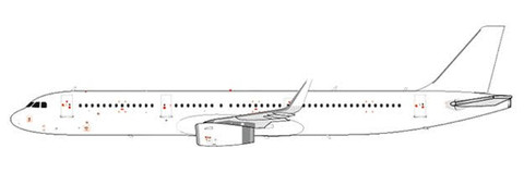 Blank White Airbus A321-200 Sharklets with Stand (1:200)