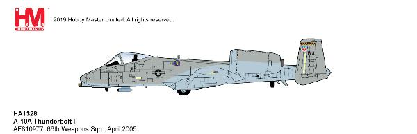 A-10A Thunderbolt II Die Cast Model 66th Weapons Sqn., April 2005 (1:72)