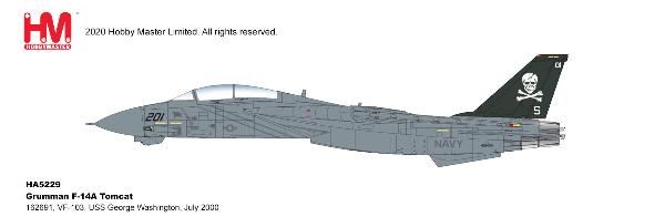 F-14A Tomcat Die Cast Model VF-84, USS Theodore Roosevelt, 1993 (1:72)