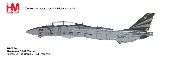"F-14A Tomcat Die Cast Model VF-154, USS Ktty Hawk, 2003 ""OIF"" (1:72)"