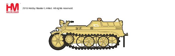 Sd.Kfz.2 Kettenkrad Die Cast Model 20th Panzer Division, Russia, 1944 (1:48)