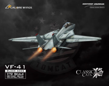 F-14A Tomcat Diecast Model, USN VF-41 Black Aces, AJ100 Anna, USS Enterprise (1:72) - Clean panel lines
