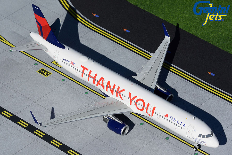 "Delta Air Lines A321-200 N391DN ""Thank You"" (1:200)"