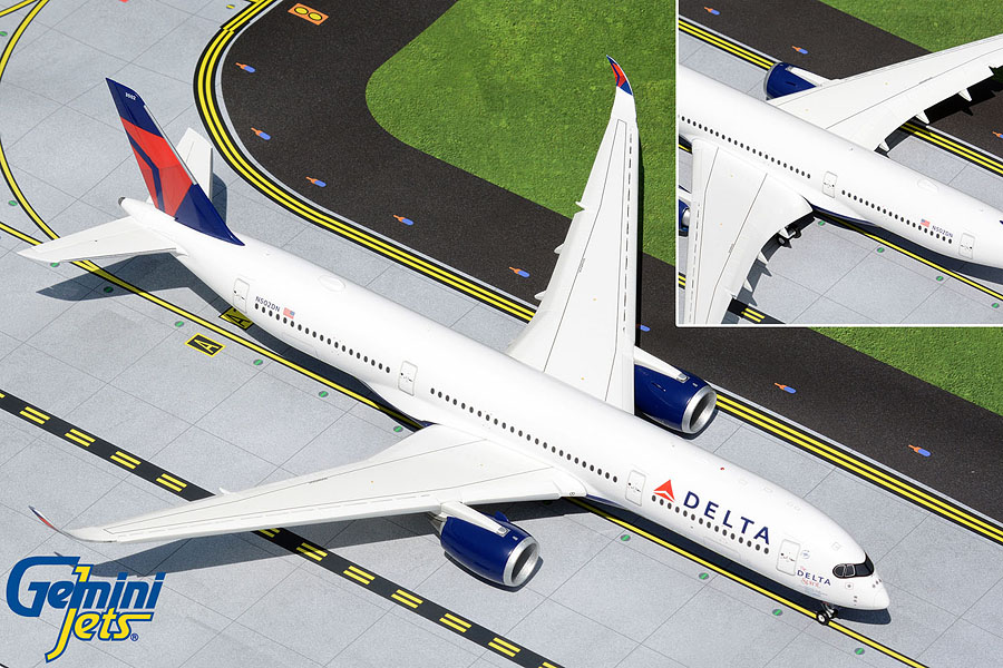 """Delta Air Lines A350-900 N502DN """"The Delta Spirit"""" (flaps down) NEW MOULD! (1:200)"""