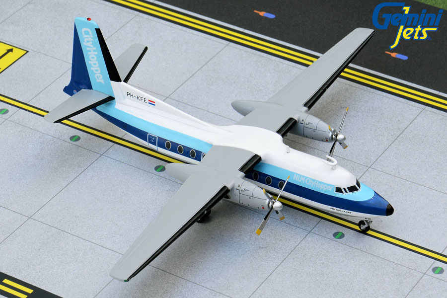 NLM CityHopper F-27 PH-KFE 1980s livery (1:200)