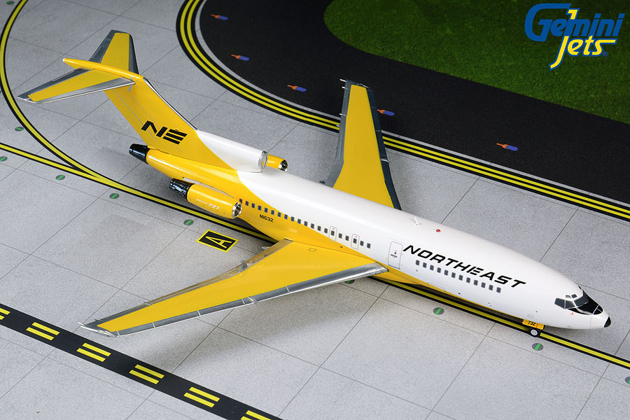 Northeast B727-100 N1632 Yellowbird livery (1:200)