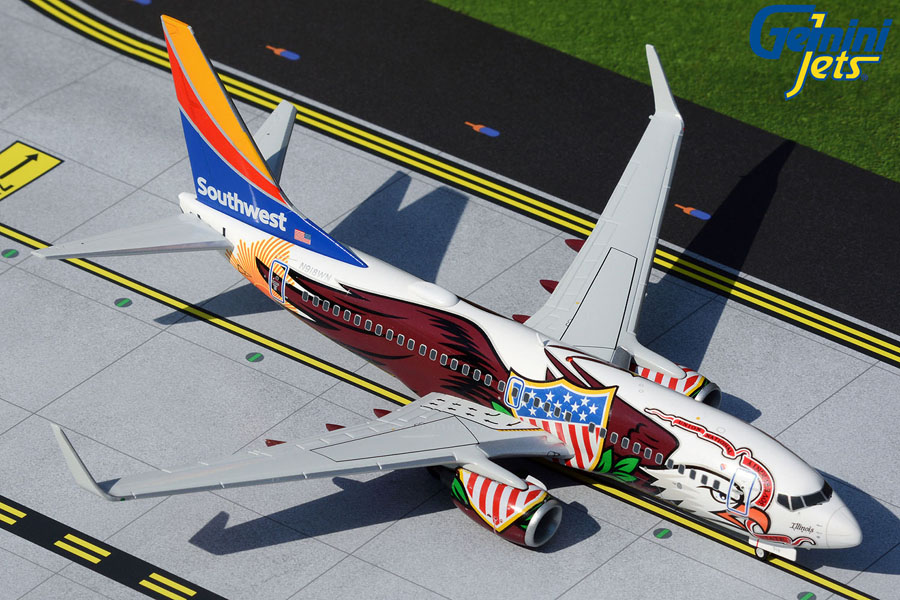"Southwest Airlines B737-700 N918WN ""Illinois One"" (1:200)"