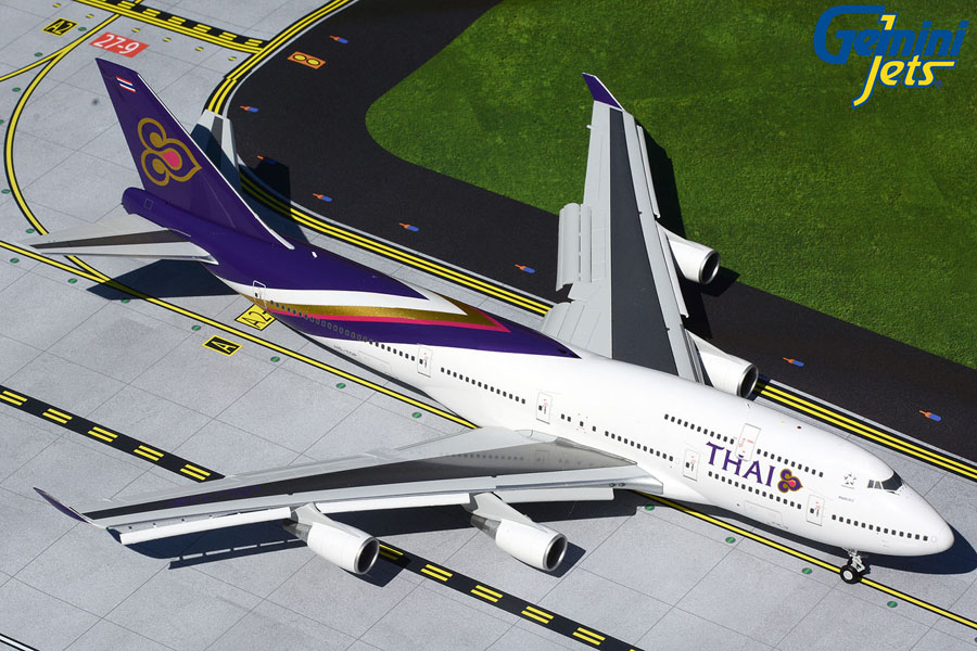 Thai Airways B747-400 flaps down HS-TGP (1:200)