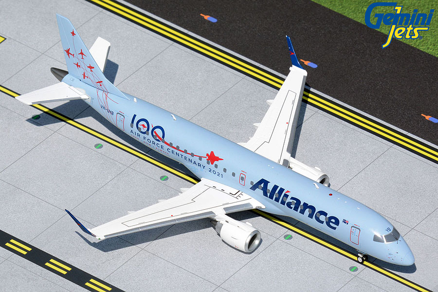 """Alliance Airlines E190 VH-UYB """"Air Force Centenary 2021"""" (1:200)"""