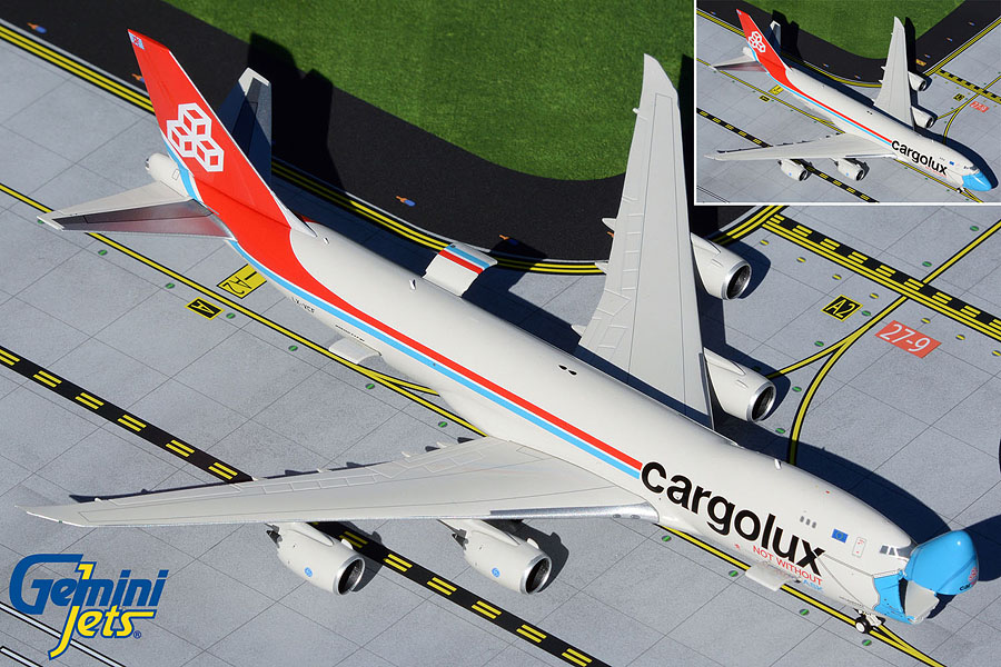 """Cargolux B747-8F LX-VCF """"Not Without My Mask"""" Interactive, Opening Nose (1:400)"""