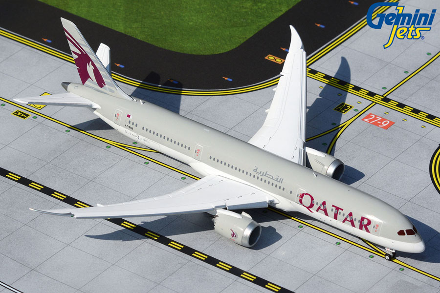 Qatar Airways B787-9 A7-BHA flaps down (1:400)