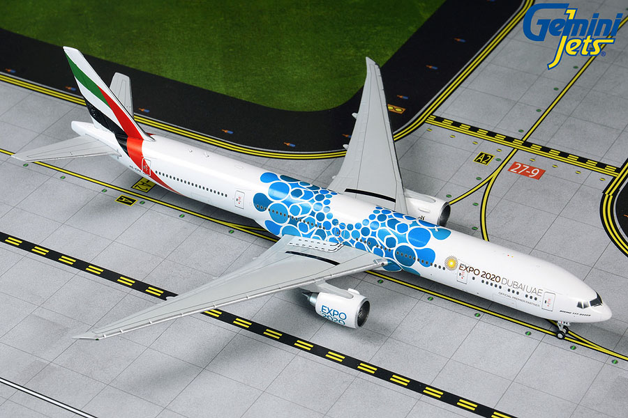 "Emirates B777-300ER blue ""Expo 2020"" A6-EPK (1:400"