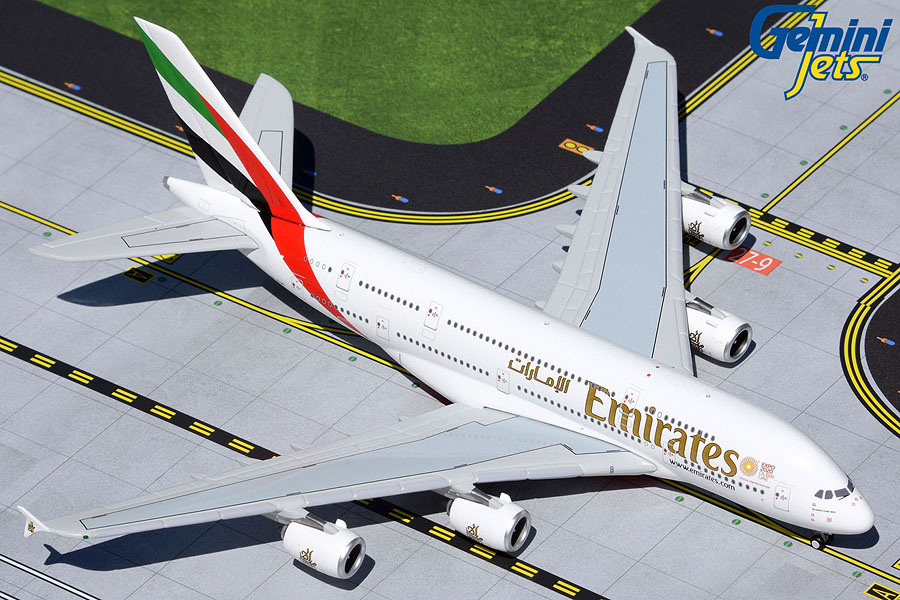 """Emirates A380 A6-EUD (with """"Expo 2020"""" logo) (1:400)"""