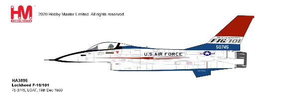 F-16 Fighting Falcon Die Cast Model USAF, 19th Dec 1980 (1:72)