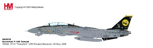 "F-14D Tomcat VF-31 ""Tomcatters"", USS Theodore Roosevelt, US Navy, 2006 (1:72)"
