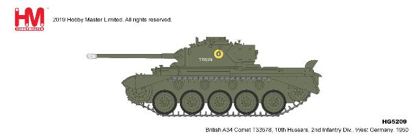 A34 Comet 10th Hussars 2nd Infantry Div. West Germany, 1950 (1:72)