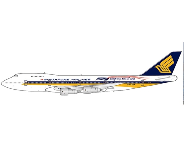 """Singapore Airlines Boeing 747-200 9V-SIA """"California Here We Come"""" (1:400)"""