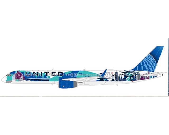 """United Airlines Boeing 757-200 N14102 """"Her Art Here - New York/New Jersey Livery"""" Officially Licensed (1:200)"""