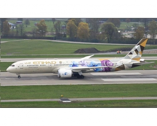 "Etihad Airlines B787-9 ""Choose Singapore"" A6-BLR (1:400)"
