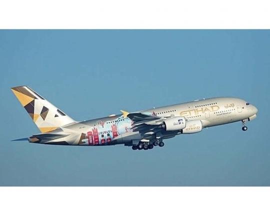 "Etihad Airlines A380-800 ""Choose the UK"" A6-APC (1:400)"