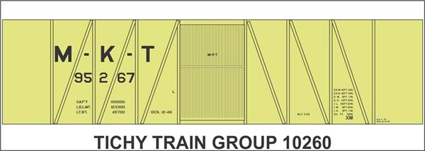 Ho Mkt 40' Ss Boxcar Decal